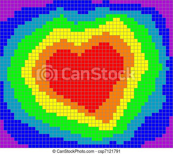 Coeur Valentin Arc En Ciel