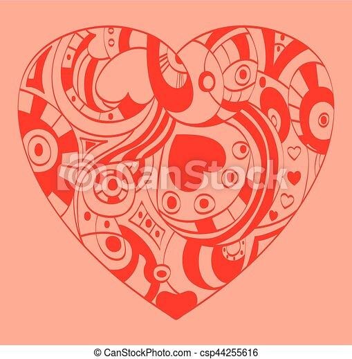 coeur, valentine, symbole, -, jour, rue. - csp44255616