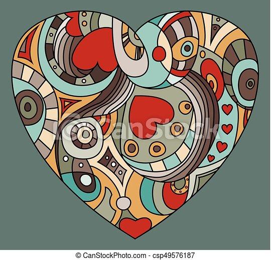 coeur, valentine, symbole, -, jour, rue. - csp49576187