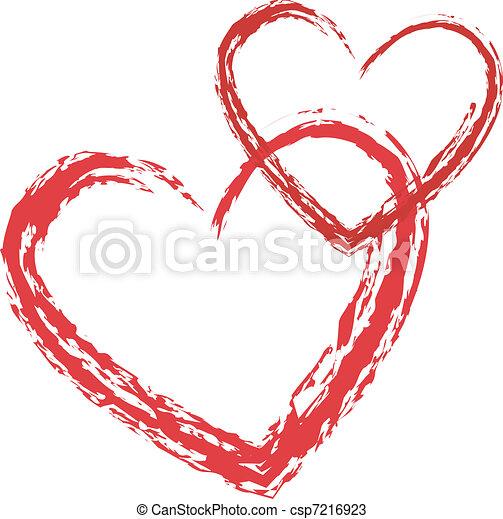 coeur, vecteur, amour - csp7216923