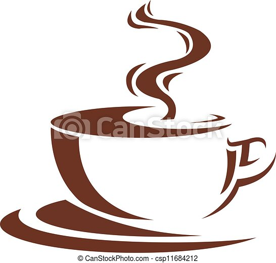 Cofee Steaming Cup Of Coffee Brown