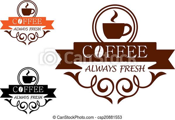 Coffee Always Fresh vector label - csp20881553