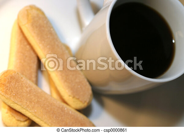 Coffee and biscotti - csp0000861