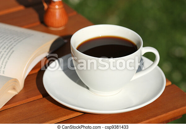 Coffee and book - csp9381433