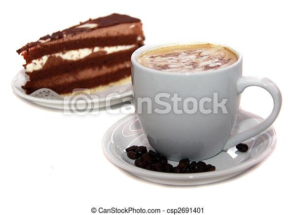 coffee and chocolate cake - csp2691401