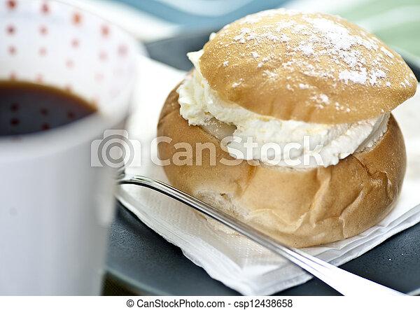 Coffee and cream bun - csp12438658