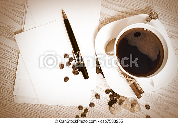 Coffee and letters - csp7533255