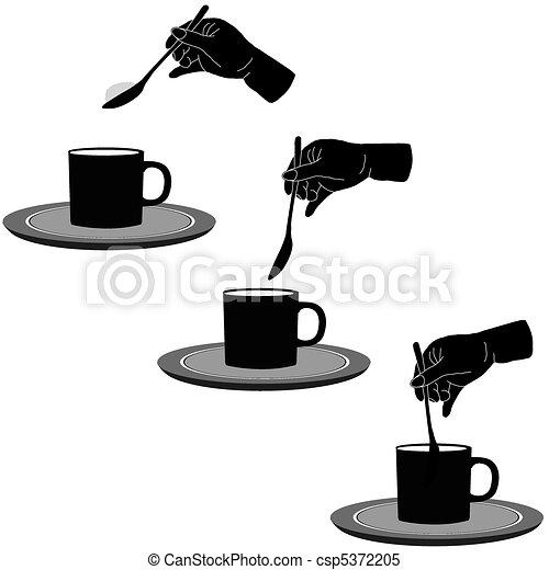 Coffee and sugar - csp5372205