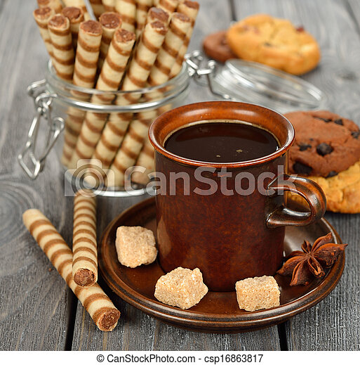 Coffee and sweets - csp16863817