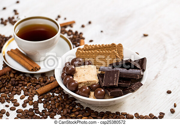 Coffee and sweets - csp25380572