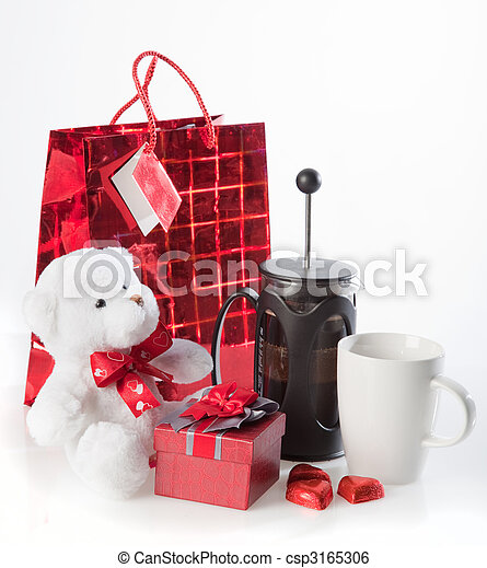 Coffee and valentine's gifts - csp3165306