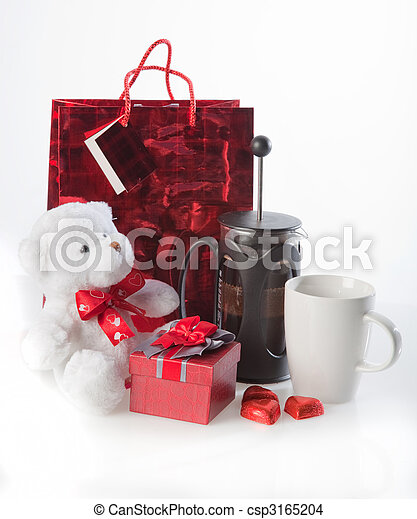 Coffee and valentine's gifts - csp3165204