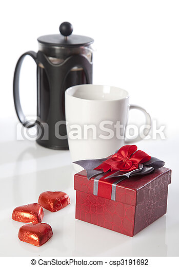 Coffee and valentine's gifts - csp3191692