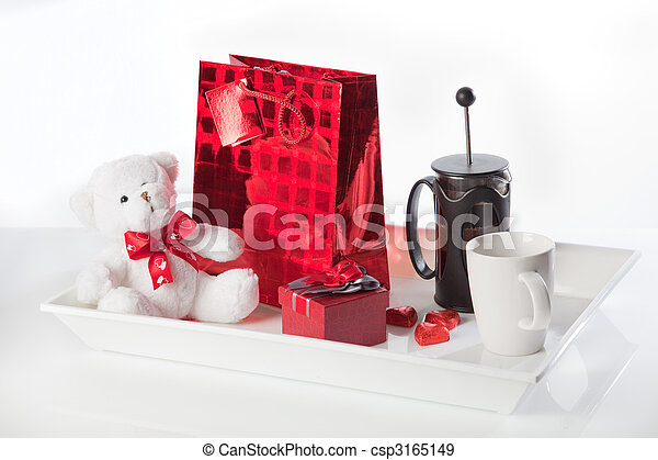 Coffee and valentine's gifts - csp3165149
