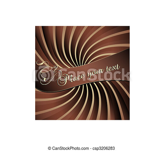 Coffee background and label - csp3206283