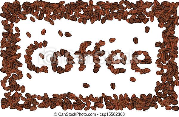Coffee bean alphabet - csp15582308