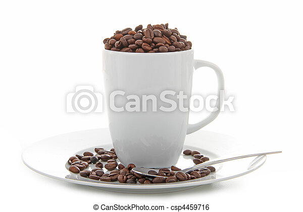 coffee bean and cup - csp4459716