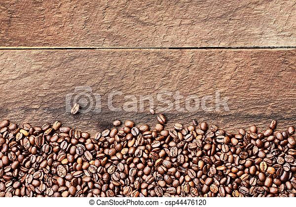 Sensational Coffee Bean Background Over Wood Table Top Inzonedesignstudio Interior Chair Design Inzonedesignstudiocom