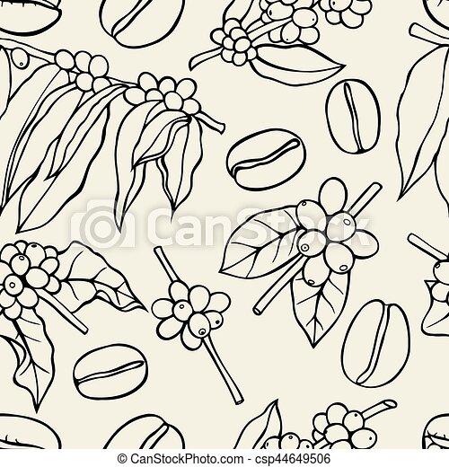 Coffee bean pattern - csp44649506