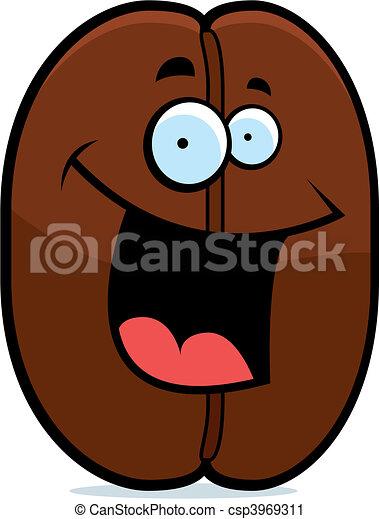 Coffee Bean Smiling - csp3969311