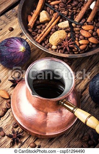 coffee beans and mix spices - csp51294490