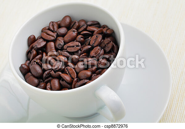 coffee beans in cup - csp8872976