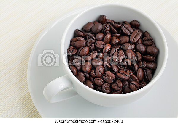 coffee beans in cup - csp8872460
