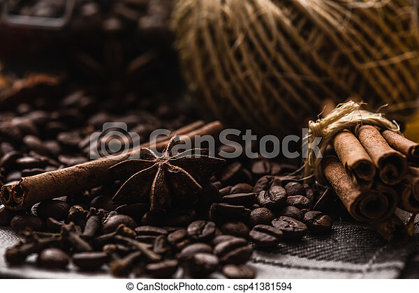 Coffee Beans with Condiment - csp41381594