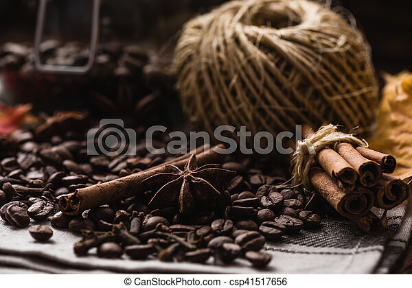 Coffee Beans with Spices - csp41517656