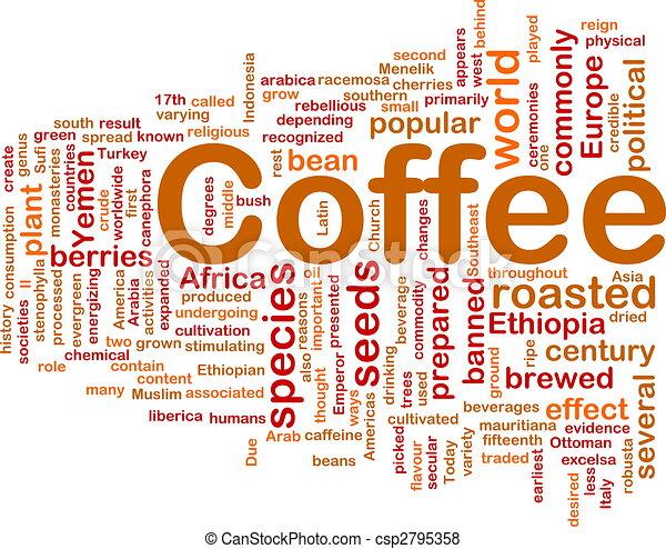 Coffee beverage background concept - csp2795358
