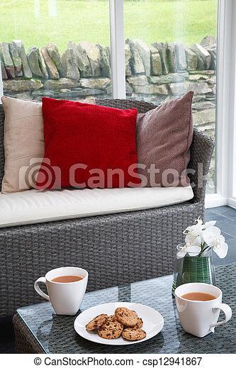 Coffee break at home - csp12941867