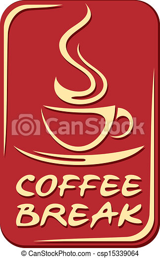 Coffee break sign - csp15339064