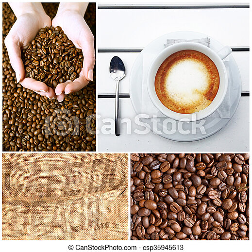 Coffee collage - csp35945613
