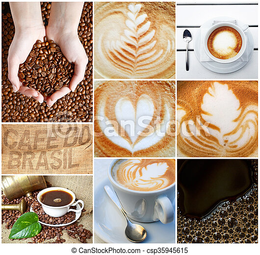 Coffee collage - csp35945615