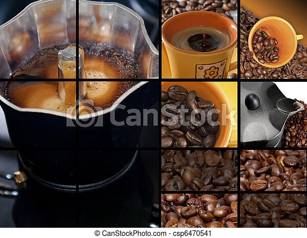 coffee collage - csp6470541