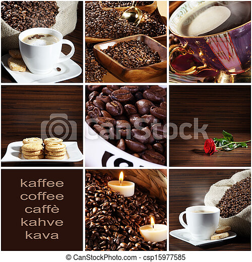 coffee collage - csp15977585