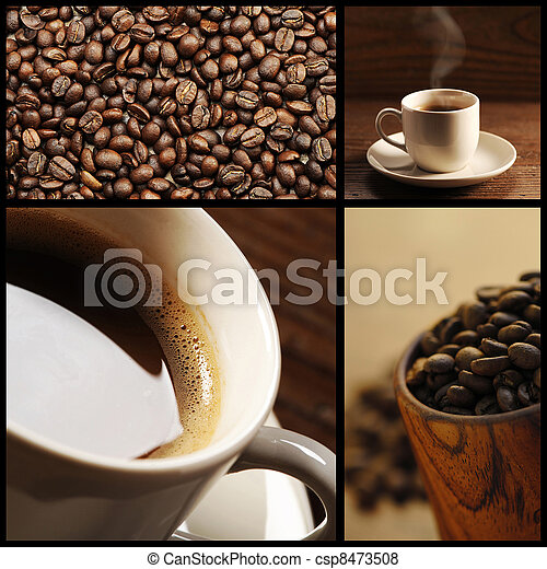 coffee collage - csp8473508