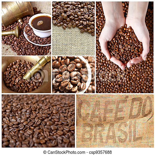Coffee collage - csp9357688
