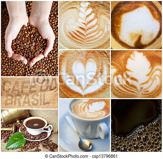 Coffee collage - csp13796861