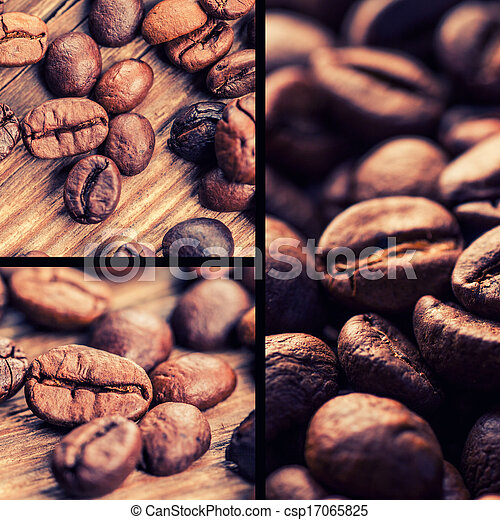 coffee collage - csp17065825