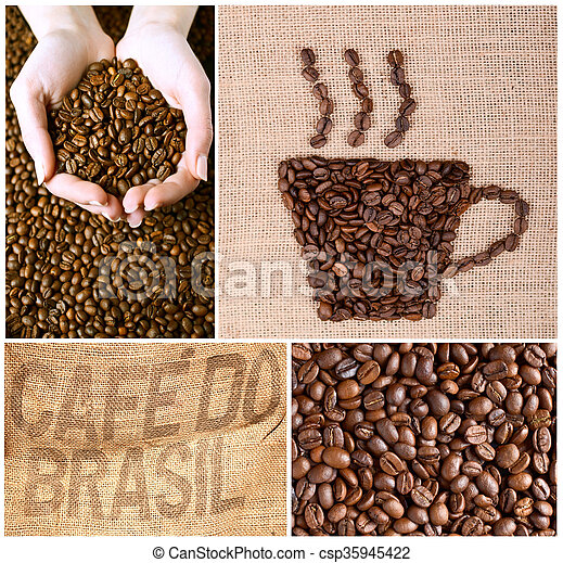 Coffee collage - csp35945422