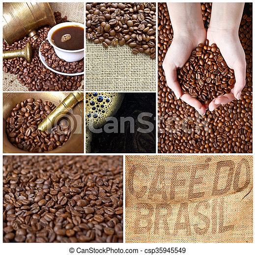 Coffee collage - csp35945549