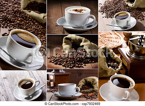 Coffee collage - csp7932469