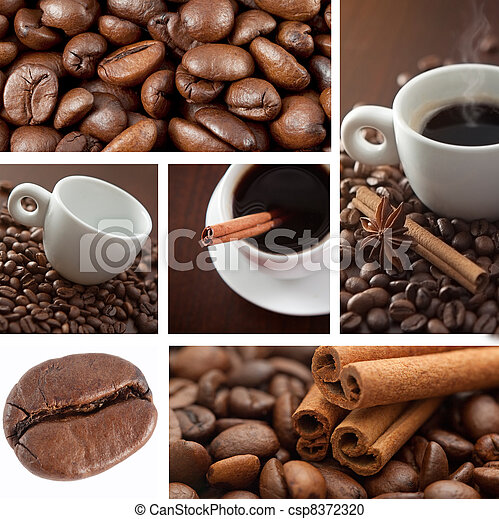 Coffee collage - csp8372320