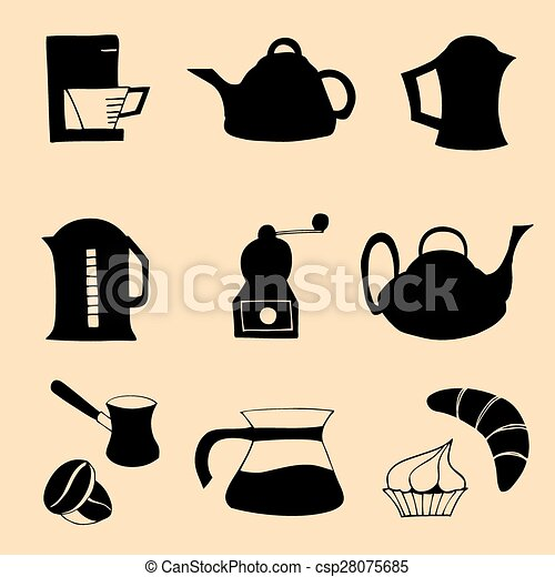 Coffee collection. Vector illustration - csp28075685
