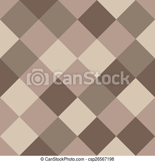 Coffee Colors Seamless Texture. Abstract Vector Background. - csp26567198