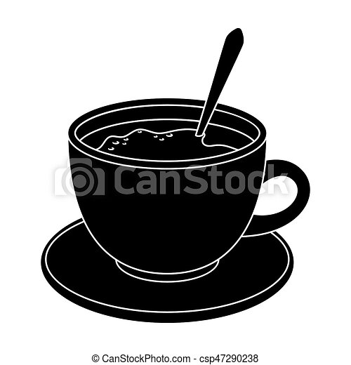 Coffee Cup Americanodifferent Types Of Coffee Single Icon In Black