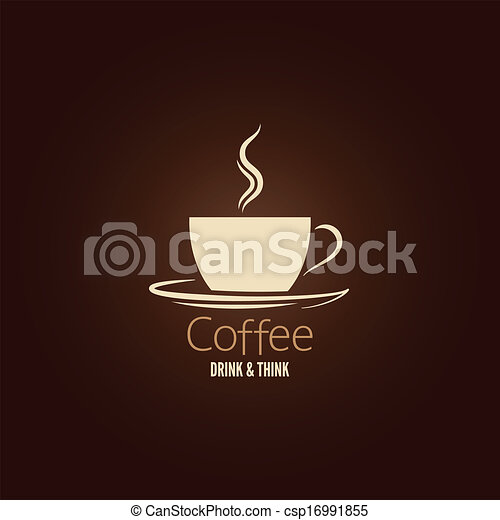 coffee cup design background  - csp16991855