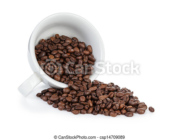 coffee cup full of bean inverted - csp14709089