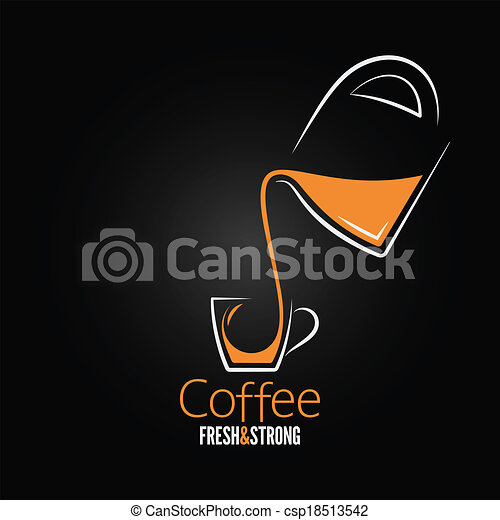 coffee cup glass pot design background - csp18513542